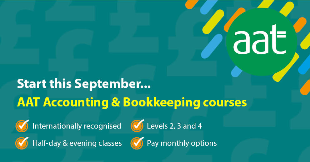 AAT accounting and bookkeeping courses advertisement