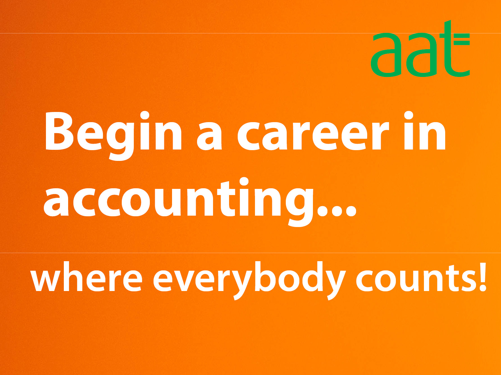 Begin a career in accounting...where everybody counts
