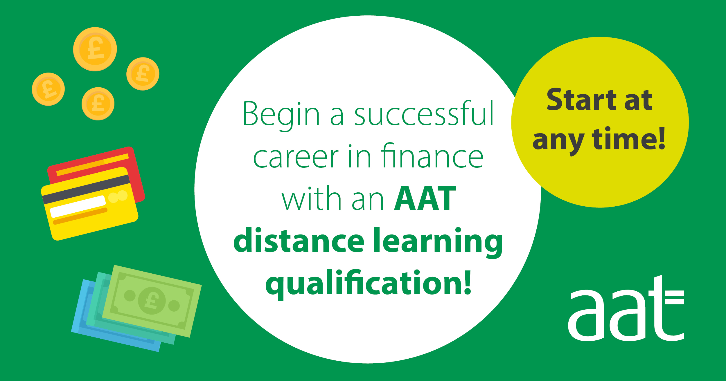 Begin a successful career in finance with an AAT distance learning qualification!