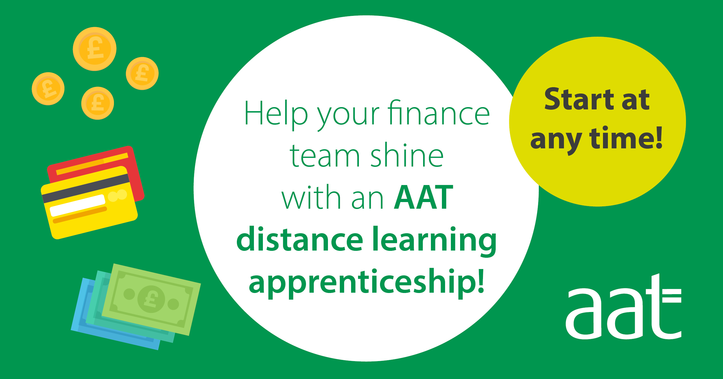 Help your finance team shine with an AAT distance learning apprenticeship!